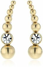 MICHAEL KORS MKJ5512710 Climber Beaded Ball Gold Crystal Earrings MKJ5512