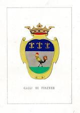 Araldica stemma araldico della famiglia Galli di Firenze