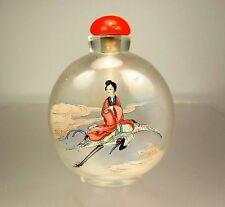 Superb Chinese Inside-Painted Glass Snuff Bottle, Xiwangmu - Early 20th C.
