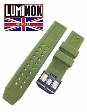 LUMINOX EVO 23mm Watch Rubber Strap Stainless PVD Black Buckle MILITARY GREEN