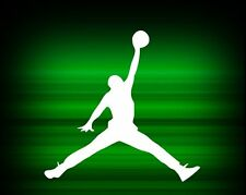 "MICHAEL AIR JORDAN LOGO 10""  VINYL  Nike DECAL CAR  WINDOW STICKER  Free Ship"