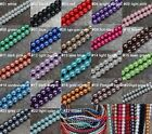 Wholesale Lots 20/30/50/100Pcs Glass Pearl Round Spacer Loose Beads 4/6/8/10mm