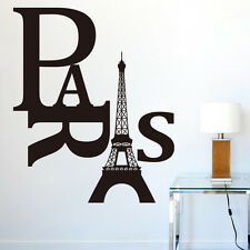diy gift Eiffel tower Paris Wall Sticker Sitting Living Bed Room art Decoration