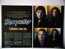 COUPURE DE PRESSE-CLIPPING :  RHAPSODY [4pages] 2002 Luca Turilli,Alex Staropoli
