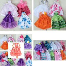 Handmade Party Doll Dress Clothes Gown For Barbies for Kids Color Random HU
