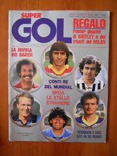 Super Gol n°14 1985 Junior Platini Maradona -- no poster  [D24]