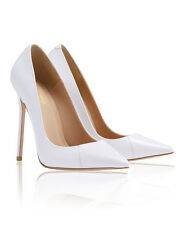 "HOUSE OF CB 'PARIS' 5"" White Patent Leather Pointy Toe Heels 'FAULTY' SS 6663"