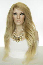 Long Straight Lace Front Heat Friendly Blonde Brunette Red Grey Wigs Side Part