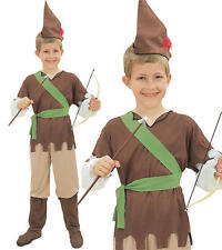 Childrens Kids Robin Hood Fancy Dress Costume Peter Pan Book Week Outfit M