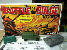 MARX BATTLEGROUND BATTLE OF THE BULGE CONEPT PLAYSET