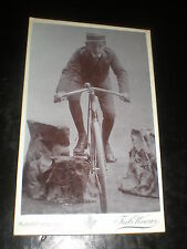 Cdv old photograph man on bicycle by Knozer Vienna Austria c1900s