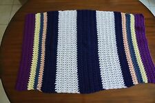 Hand Crocheted Small Throw or Baby Blanket