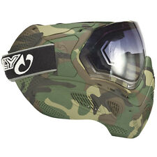 New Sly Profit Full Camo Paintball Goggles Mask - Woodland Wood Camo