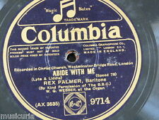 "78rpm 12"" REX PALMER abide with me / nearer my god to thee 9714"