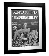 DONNA SUMMER+Remember Yesterday+POSTER+AD+FRAMED+ORIGINAL 1977+FAST GLOBAL SHIP