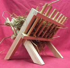 Hay Manger Feeding Rack Wooden 9 x 8 x 9 inch Rabbit Guinea Pig Chinchilla