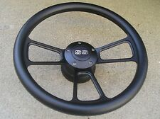 Black Billet steering wheel + Adapter SS HORN 69-93 GM chevy Ididit Jeep FlaminR