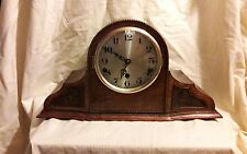 OLD WESTMINSTER CHIME MANTLE CLOCK WITH PENDULUM &KEY IN E.W.O OW1