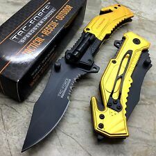 TAC-FORCE First Responder Tactical Rescue Pocket Knife w/LED Light TF-874BY