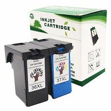 2 for Lexmark 36 XL 37 XL BLACK&COLOR H.Y Ink Cartridge for X3650 X4650 X5650