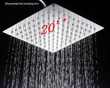 """50cm 20""""  Ultra Thin 304 Stainless Steel Rainfall Bathroom Shower Head Chrome"""