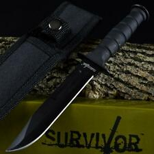 "8"" TACTICAL COMBAT NECK KNIFE Survival Hunting MILITARY BOWIE DAGGER Fixed Blade"