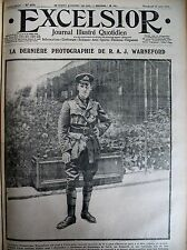 WW1 AVIATION LEGION D'HONNEUR PILOTE BRITANNIQUE WARNEFORD EXCELSIOR 18/06/1915