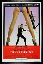 FOR YOUR EYES ONLY * CineMasterpieces ORIGINAL JAMES BOND NM-M MOVIE POSTER 1981
