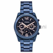 Fossil Original ES4093 Women's Perfect Boyfriend Blue Stainless Steel Watch 39mm