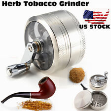 Gift 4 Piece NEW Weed Grinder Hand Herb Pollen Tobacco Spice Crusher CE US
