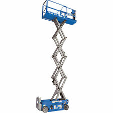 Genie Self-Propelled Scissor Lift Aerial Work Platform- 19ft Lift, 500lb Cap,