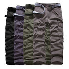 New Men's Cotton Military Combat Cargo Pants Casual ARMY Camo Trousers Work Pant