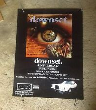 OOP rare CD LP  Poster 24x18apox. DOWNSET music metal heavy band rock