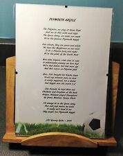 Plymouth Argyle Football Club Original Poetic Gift Framed Unique And Unusual