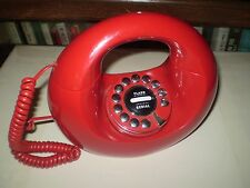 VINTAGE MID CENTURY MODERN STYLE RED HANDBAG TELEPHONE EX. WORKING CONDITION