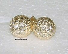 Solid 14K Yellow Gold 6mm BALL Stud Earrings SPARKLING Laser Cut Butterfly Backs