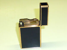 "S.T. DUPONT PARIS BRIQUET ESSENCE LIGHTER - BLACK ""CHINALACK"" -FRANCE -RARE"