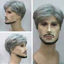 New Fashion Short silver gray Man cosplay Wig + wigs cap