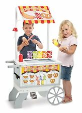 Kids Snack Sweet Food Play Cart Pretend Toy Set Ice Cream Popsicle Dessert Stand
