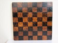 ANTIQUE ENGLISH SOLID OAK  CHESS BOARD  40.5 cm WITH  50 mm squares