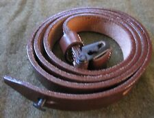 WWII GERMAN MP38 MP40 MG MACHINE PISTOL LEATHER CARRY SLING-DARK BROWN