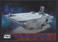 Topps Star Wars - The Force Awakens - Blue Parallel Card # 54 FO Transporter