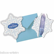 6 Disney's FROZEN Ice Skating Children's Party Invitations plus Envelopes
