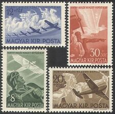 Hungary 1942 Horthy Aviation Fund/Planes/Aircraft/Horses/Bird 4v set (n28491)