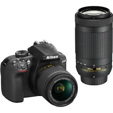 Nikon D3400 DSLR Camera with 18-55mm & 70-300mm Lenses (Black) (SMP6)
