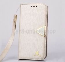 Luxury Leather Flip Credit Card Slot Stand Cover Case Wallet For iPhone Samsung