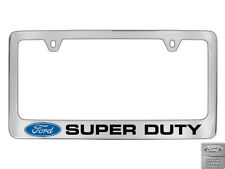 Ford Super Duty Chrome Plated Metal License Plate Frame Holder