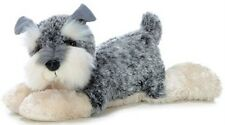 "12"" Schnauzer Puppy  Dog Ludwig Gray White Aurora Plush Stuffed Animal Toy 31007"
