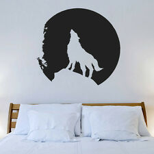 Wall Decal Vinyl Sticker  Wolf Moon Night howling wolf animal    Mural r642