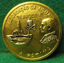 O. LADY FATIMA / POPE Vtg dat1967 VERY LGE MEDAL- COMMEMORATIVE 50 YEARS APPARIT